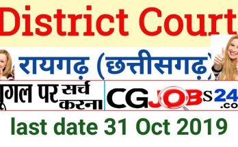 District Court Raigarh jobs 2019
