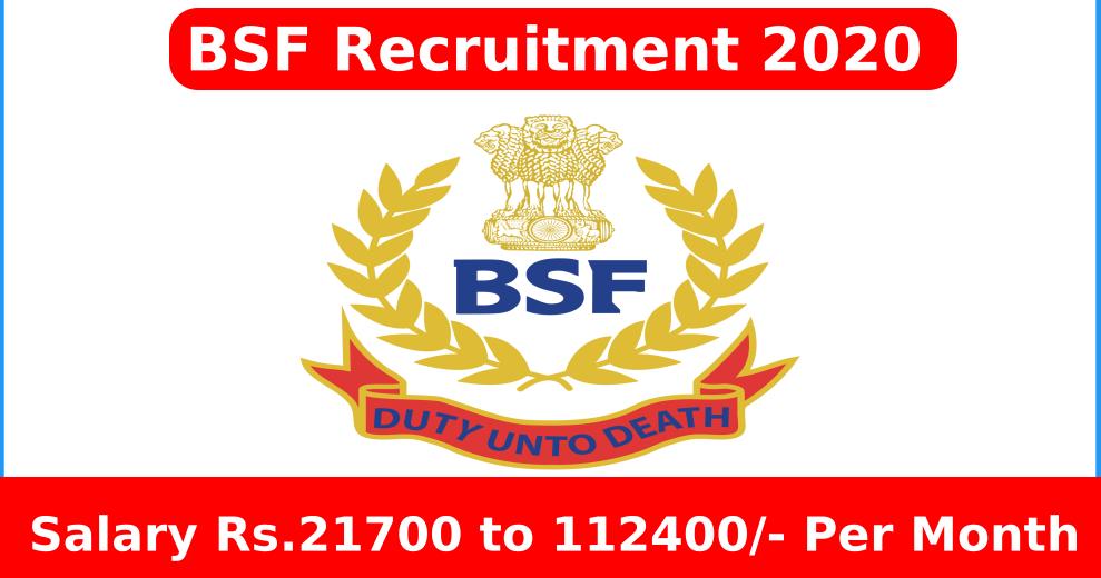 Photo of सीमा सुरक्षा बल भर्ती (BSF Bharti 2020) सीमा सुरक्षा बल में निकली SI/हेड कांस्टेबल पदों के लिए करें आवेदन