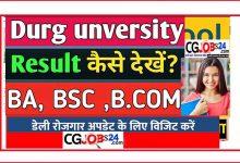 Photo of Durg University Result 2020 दुर्ग यूनिवर्सिटी का रिजल्ट कैसे देखें