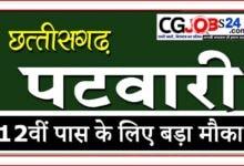 Photo of छत्तीसगढ़ पटवारी भर्ती 2021 | CG Patwari Recruitment 2021|  छत्तीसगढ़ व्यापम पटवारी सीधी भर्ती