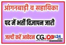 Photo of Chhattisgarh Korba Anganwadi Job 2021 | cg anganwadi vacancy 2021 | CG Anganwadi Bharti 2021 | Chhattisgarh Anganwadi Recruitment 2021