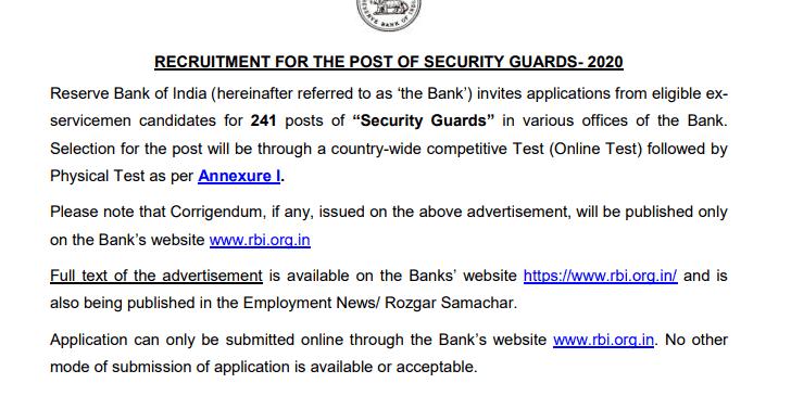 rbi bank में सिक्योरिटी गार्ड की भर्ती 2021,भारतीय रिज़र्व बैंक सिक्योरिटी गार्ड भर्ती 2021,सिक्योरिटी गार्ड भर्ती,आरबीआई सिक्योरिटी गार्ड भर्ती,रिजर्व बैंक में सिक्योरिटी गार्ड की भर्ती,rbi security guard recruitment 2021,आरबीआई सिक्योरिटी गार्ड रिक्रूटमेंट 2021,rbi security guard vacancy 2021,रिजर्व बैंक में सिक्योरिटी गार्ड की भर्ती नोटिफिकेशन,rbi security guard online form 2021,rbi security guard bharti 2021,rbi online form 2021,rbi recruitment 2021,रिज़र्व बैंक भर्ती 2021