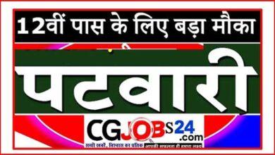 Photo of CG patwari upcoming vacancy 2021 कब आएगी जानिए   छत्तीसगढ़ पटवारी भर्ती 2021   CG Vyapam Chhattisgarh Patwari Recruitment 2021