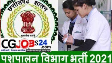 Photo of पशु चिकित्सा विभाग में संविदा पदों की भर्ती || Cg Pashupalan Vibhag Recruitment 2021