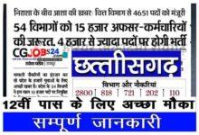 Photo of छत्तीसगढ़ में 4651 पदों पर होगी बंपर भर्ती 2021 | CG Vyapam Recruitment Upcoming Vacancy 2021 in Hindi